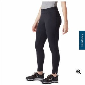 Columbia solid black fleece leggings